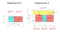 Floorplan of sleeping huts