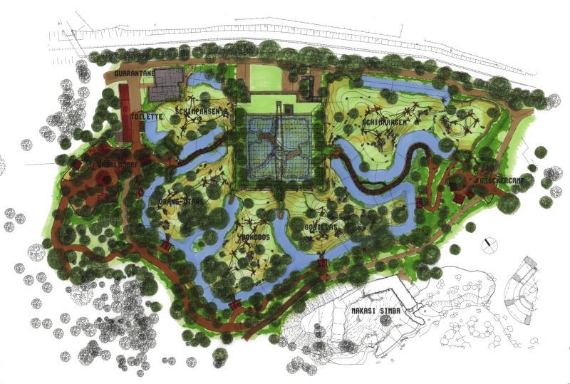 Zoolex Image Siteplan Of Complete Pongoland